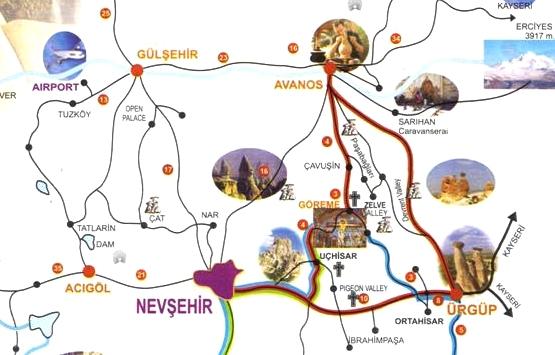 Тур по северу Каппадокии (красный маршрут)